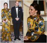 Duchess Of Cambridge In Erdem   @  BlackTie Dinner In Sweden