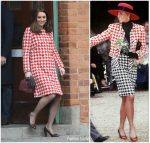 Duchess of Cambridge pays Homage to   Princess of Wales  In Houndstooth Jacket