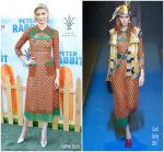 Elizabeth Debicki in Gucci @ 'Peter Rabbit' LA Premiere