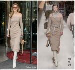 Gigi Hadid In  Fendi @  Out In Paris