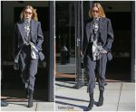 Gigi  Hadid  In Vivienne Westwood – Out In New York