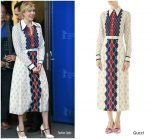 Greta Gerwig in Gucci @  'Isle of Dogs' Berlin International Film Festival Photocall