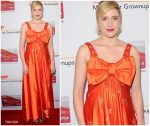 Greta Gerwig  In  Vintage Cardinali  @ 2018 AARP Awards
