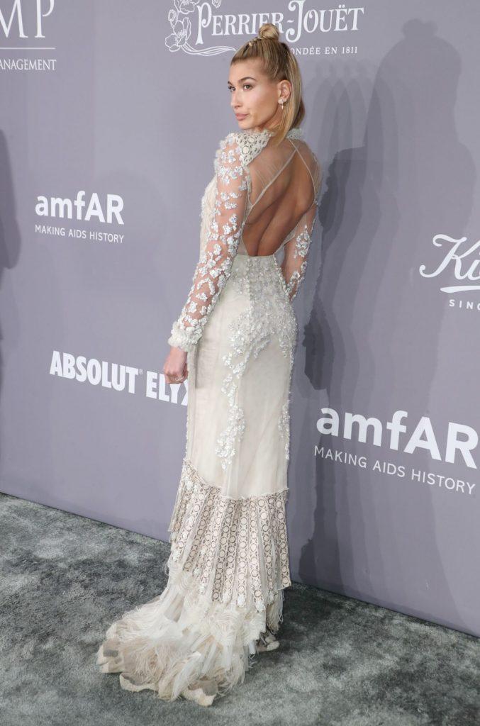 Hailey Baldwin In Roberto Cavalli @ 2018 AmfAR Gala New York ...