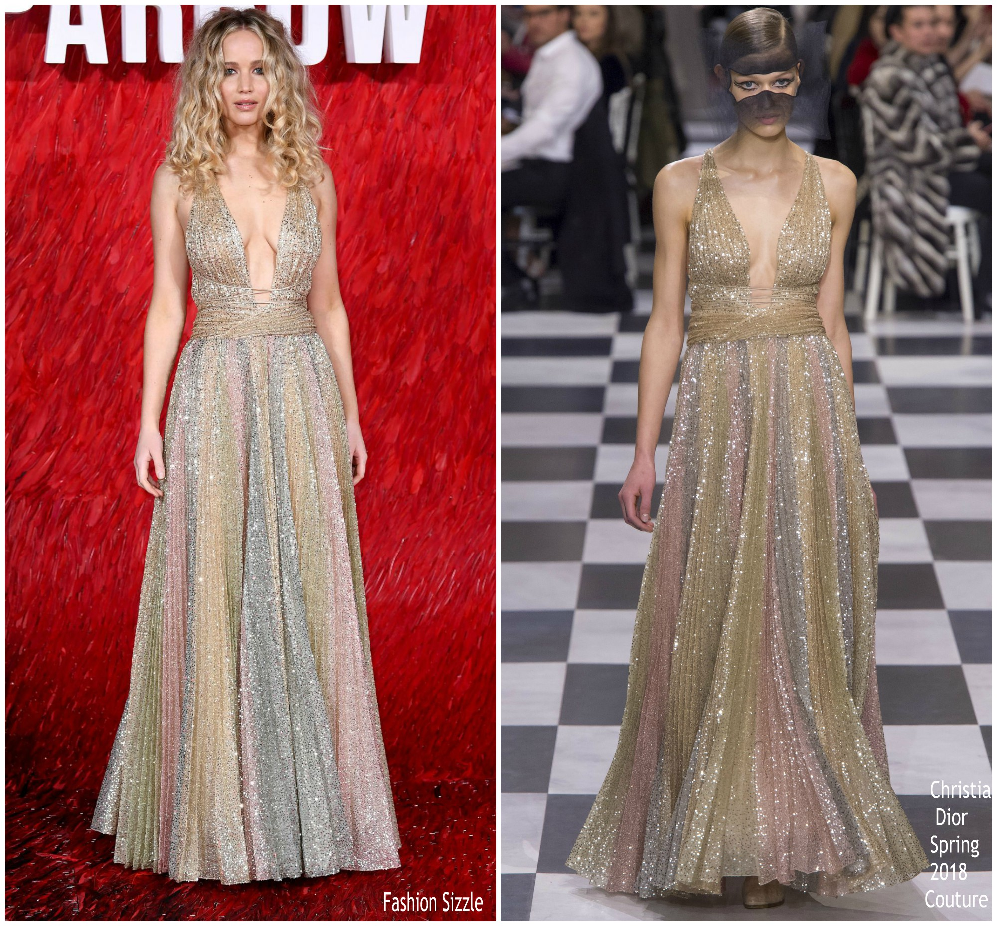 3c73dde5 Jennifer Lawrence in Christian Dior Couture @ 'Red Sparrow' London Premiere