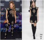 Jennifer Lopez In Versace @ Directv Super Bowl Party In Minneapolis