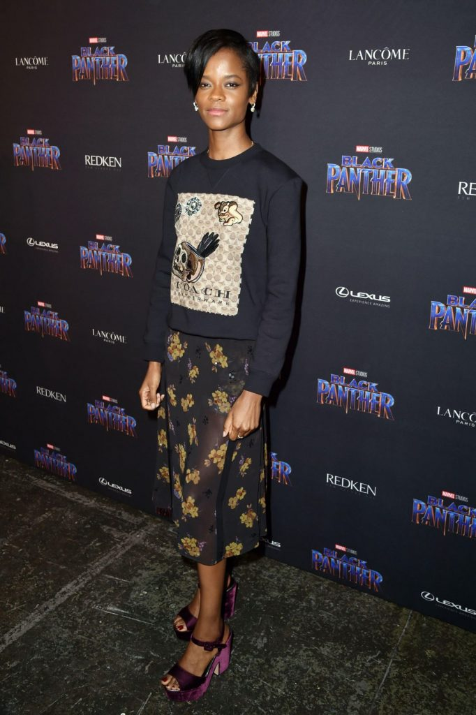 Letitia Wright In Coach Black Panther Welcome To Wakanda