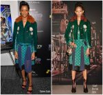 """Letitia Wright In Coach   @ """"Black Panther"""" New York Screening"""