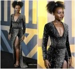 "Lupita Nyongo  In Balmain @ ""Black Panther "" European Premiere In London"