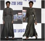 Lupita Nyong'o In Elie Saab  @ 'Black Panther' Seoul Press Conference