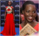 """Lupita Nyong'o In Kevin Mayes  @ """" Black Panther """"  South Africa Premiere"""
