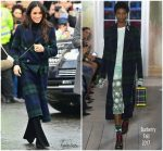 Meghan Markle In Burberry, & Veronica Beard  @ Edinburgh Visit