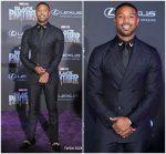 """Michael B. Jordan In Calvin Klein  @ """"Black Panther"""" LA Premiere"""