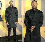 Michael B. Jordan In Calvin Klein   @ 'Black Panther' London Premiere Menswear