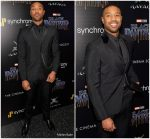 Michael B. Jordan  In  Prada  @ Black Panther New York Screening