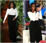 Michelle Obama In Tom Ford  @ The Ellen Show
