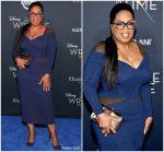 """Oprah Winfrey In  Atelier Versace   @ """"A Wrinkle In Time"""" LA Premiere"""