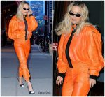 "Rita Ora In  Tom Ford  Arriving  ""Late Night with Seth Meyers"""