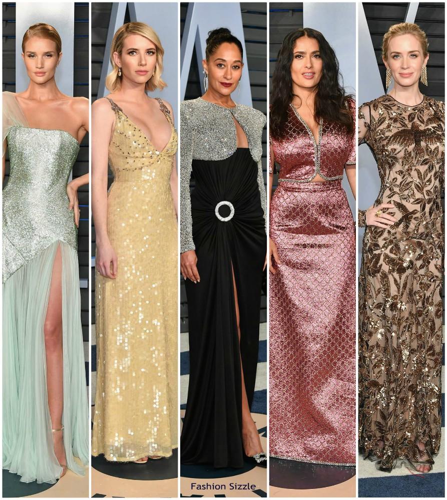 2018 Vanity Fair Oscar Party Redcarpet - Fashionsizzle