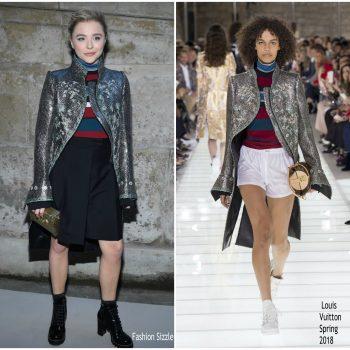 21fd7911b62d Chloé Moretz In Louis Vuitton   Louis Vuitton Fall 2018 Show