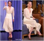 Alicia Vikander In Chloe  @ Tonight Show Starring Jimmy Fallon