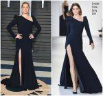 Amy Adams  In Christian Siriano  @  2018 Vanity Fair Oscar Party
