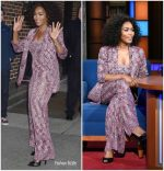 Angela Bassett In Missoni  @ The Late Show with Stephen Colbert