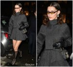 Bella Hadid  In Dior Leaving  Royal Monceau Hotel in Paris