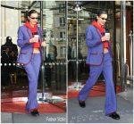 Bella Hadid In Paul & Joe  leaving the Royal Monceau Hotel during Paris Fashion Week