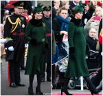 Catherine, Duchess of Cambridge in Catherine Walker @   2018 Irish Guards' St Patrick's Day Parade  In London