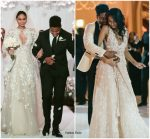 Chanel Iman Marries  Sterling Shepard wearing  Zuhair Murad