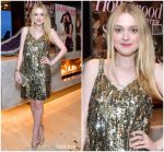 Dakota Fanning In Prada @ The Hollywood Reporter And Jimmy Choo Power Stylists Dinner