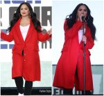 Demi Lovato  In Alexander Mcqueen Performing @ March For Our Lives
