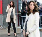 Duchess of Cambridge In  Goat coat & Hobbs Top  @  Commonwealth Games in London