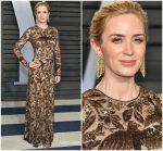 Emily Blunt  In Alexander McQueen  @ 2018 Vanity Fair Oscar Party