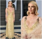 Emma Roberts In Prada @   2018 Vanity Fair Oscar Party