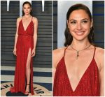 Gal Gadot  In Armani Prive @  2018 Vanity Fair Oscar Party.