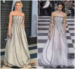 Greta Gerwig  In Christian  Dior Couture   @ 2018 Vanity Fair Oscar Party