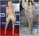 Hailey Baldwin In Zuhair Murad Couture  @ 2018 iHeartRadio Music Awards