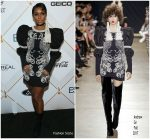 Janelle Monae In Andre Gn @ 2018 Essence Black Women In Hollywood Oscars Luncheon