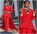 Janelle Monae In Christian Siriano  @  2018 Vanity Fair Oscar Party