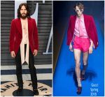 Jared Leto  In Gucci  @  2018 Vanity Fair Oscar Party