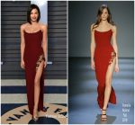 Jenna Dewan-Tatum  In Pamella Roland  @  2018 Vanity Fair Oscar Party
