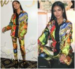 Jhene Aiko  In  Vintage Versace @ Her Surprise 30th Birthday Yacht Party