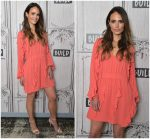 Jordana Brewster In Valentino  @ Build Studios In New York