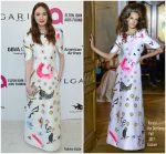 Karen Gillan In Ronald van der Kemp Couture  @ Elton John's AIDS Foundation Academy Awards Viewing Party