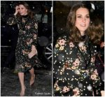 Kate Middleton In   Orla Kiely   @  the National Portrait Gallery in London