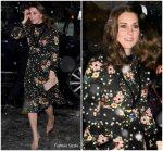 Kate Middleton In   Orla Kiely   @  the National Portrait Gallery in London