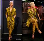 Katy Perry In Versace @ Jimmy Kimmel Live