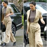 Kendall Jenner In Moon Choi  @  Arrives at Khloe Kardashian's  Baby Shower in Bel Air